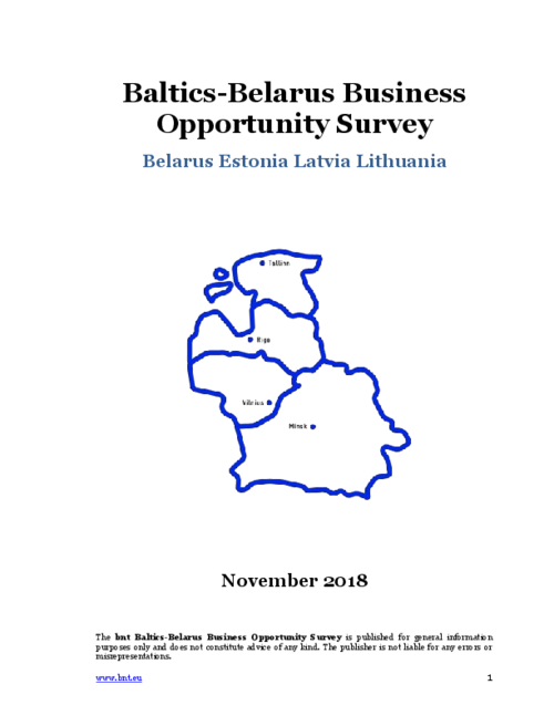 bnt Baltics Belarus Opportunity Survey November 2018