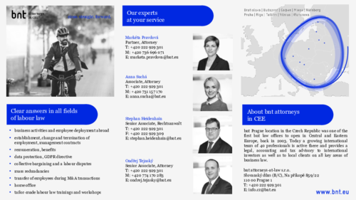 Employment Law, bnt Prague - Contact Sheet